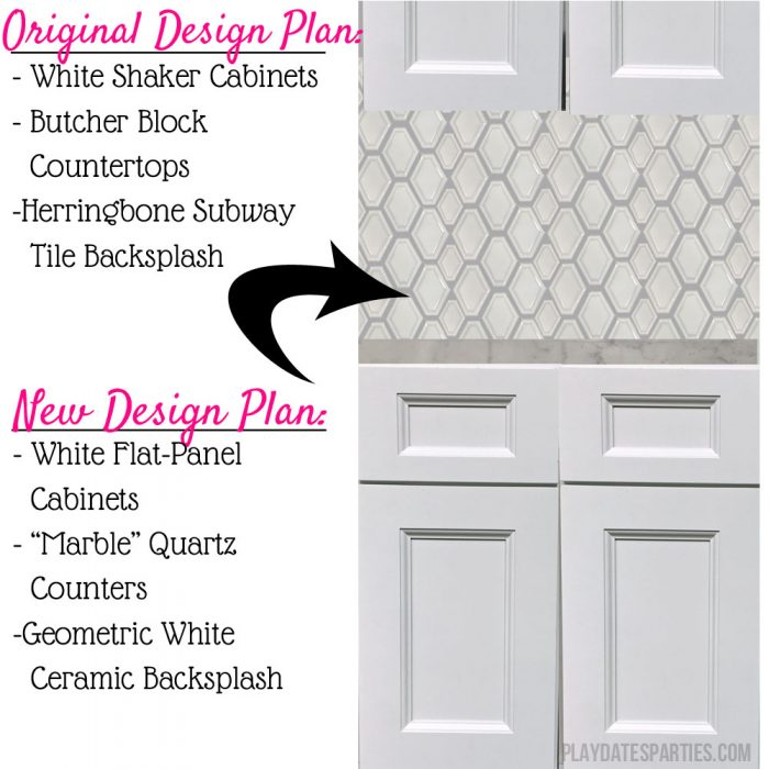 Kitchen renovation design changes - new design mockup