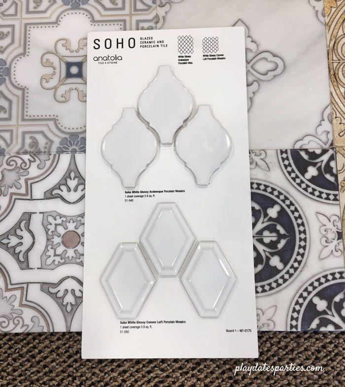 Kitchen renovation design changes - Soho tiles by Anatolia