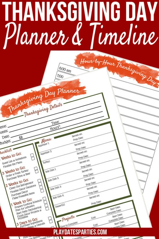 photo relating to Thanksgiving Menu Planner Printable named Your All-inside-1 Printable Thanksgiving Supper Planner