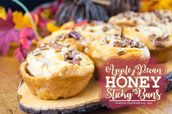 Appetizers for a Fall Party: Apple Pecan Honey Sticky Buns by The Starving Chef