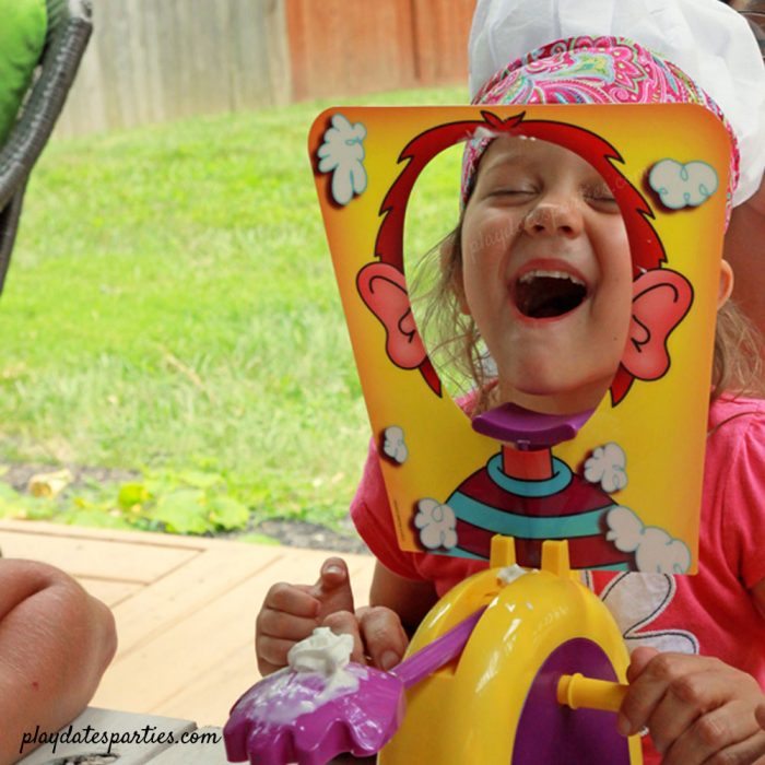 Pie face is a fun activity for kids to play at a baking party, too!