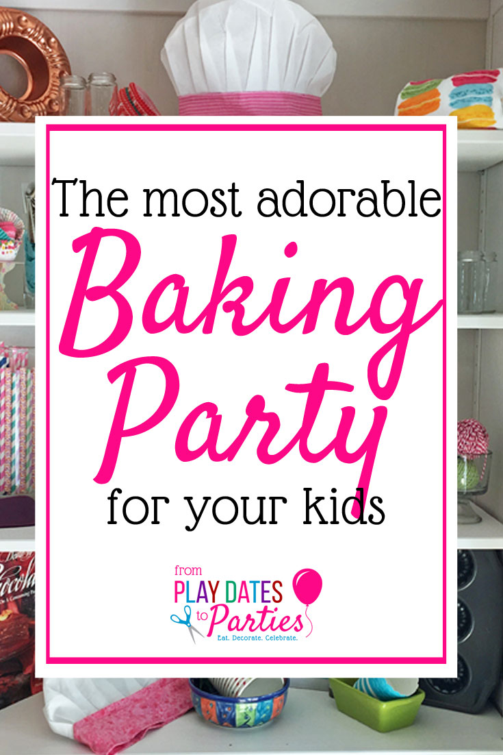 Hosting a baking party is not only cute, but so much fun too! Kids love the decorate your own sweets station with a cooke and cupcake each. Make the birthday party fun for kids and adults with these baking themed games, activities, and decorations. Including tips for using your own kitchen gadgets as decorations, too! #bakeshop #kidsbirthday #partyideasforkids #partythemes #DIYpartydecor #partiesforgirls #cupcake