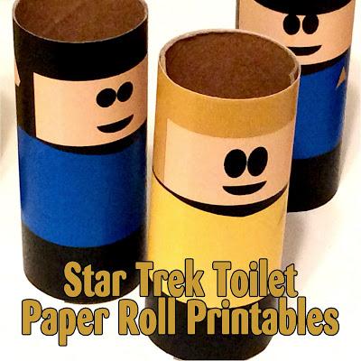 Star Trek Toilet Paper Roll Printables From The Treasured Bookshelf.