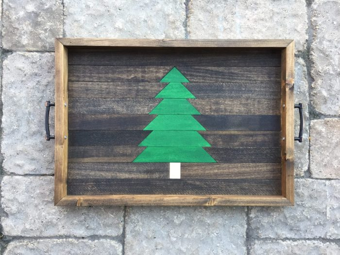 Christmas Tree Serving Tray From Hazel & Gold Designs.