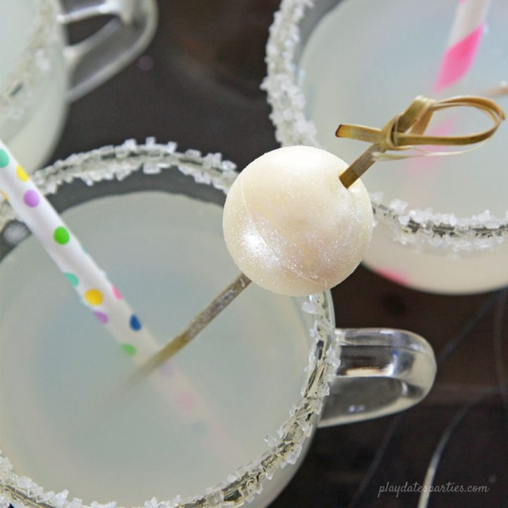 Shimmery New Year's Eve Ball Drop Garnish
