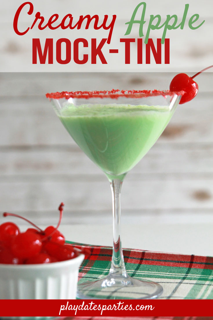 Creamy Apple Mock-tini Recipe | Easy Holiday Mocktails for Kids