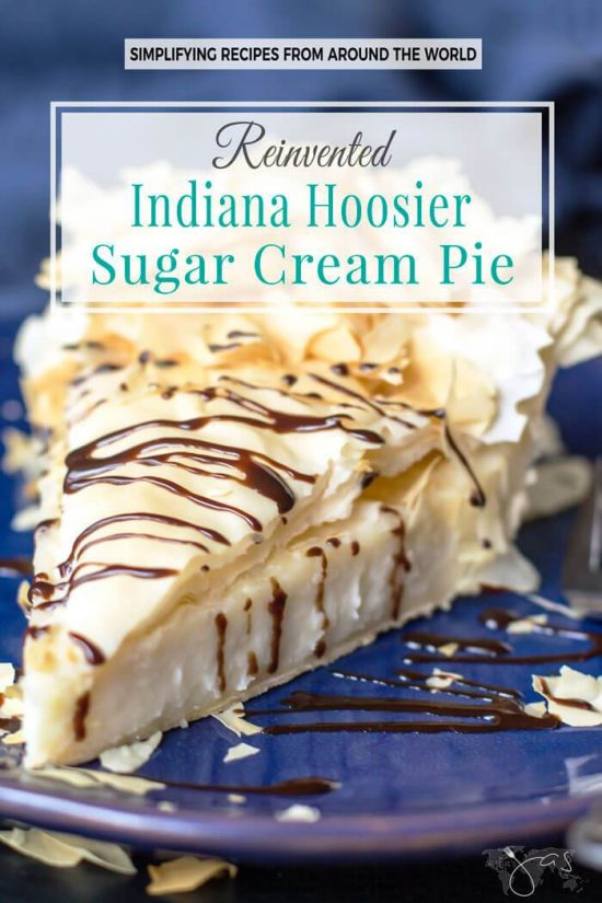 Indiana Hoosier Sugar Cream Pie – Reinvented From All That Jas.