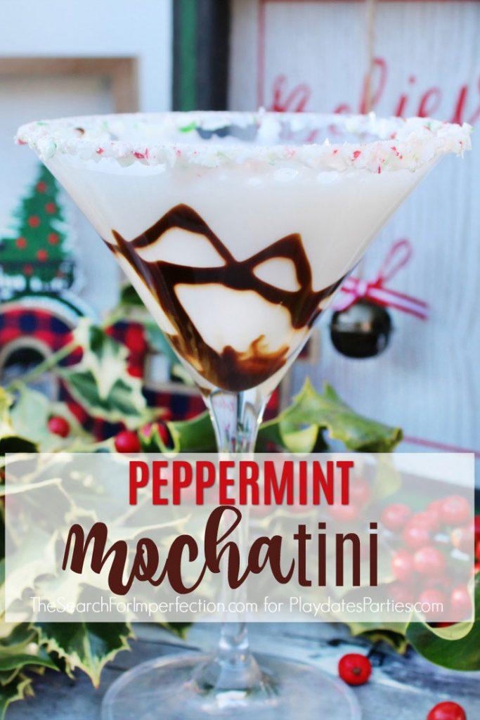 Holiday entertaining is the BEST time to pull out this signature Peppermint Mochntini cocktail recipe. You'll love how easy it is to pull together, and your guests will love the beautiful chocolate and mint garnish. Best of all, it's light on the vodka, so your party guests can have fun without overdoing it. #Christmas #ChristmasDrinks #ChristmasCocktails #CocktailRecipes #partyideas #drinkrecipes #Christmasrecipes #cocktails