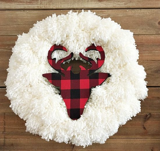 DIY Farmhouse Christmas Wreath From Vintage, Paint & More.