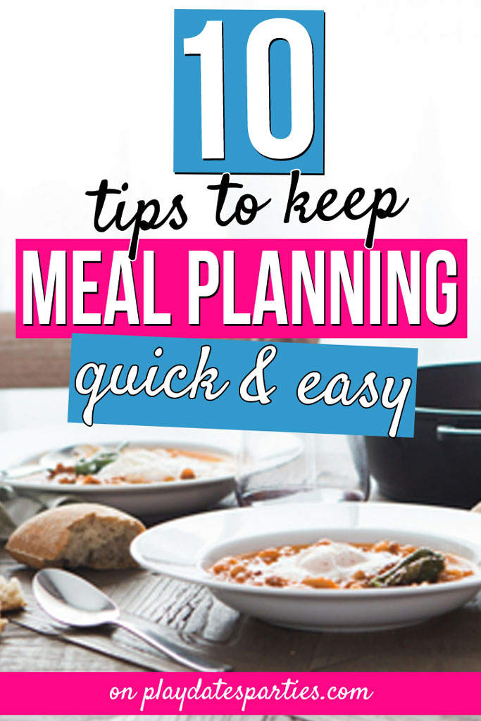 Over the last 5 years, I've been able to make meal planning easy...so easy that I can plan a whole month of dinner ideas in less than an hour. Learn all my best tips on how to meal plan in a way that works for your family, whether that means staying on a budget, improving your weekly organization, or just to make your life more simple. There's something here for you, whether you're a beginner or meal planning is old hat. #mealplanning #organization #family