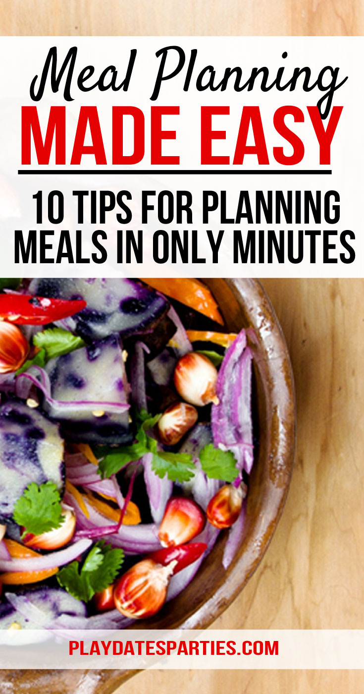 Looking for the best meal planning tips and tricks? After tweaking our system for the last 5 years, I'm sharing how I make meal planning easy...and fast. So fast that I can plan a whole month of dinner ideas in as little as 30 minutes. How awesome is that? Give some of these tips a try, I bet your families are going to say you're one amazing mom! #mealplanning #dinners #organized