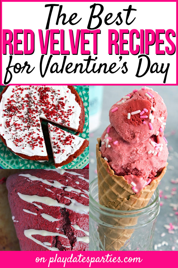 Spread the love this Valentine's Day and make one of these amazing red velvet recipes. And they're not just for desserts, either! From easy fun breakfast ideas for kids, to incredible party cakes and cupcakes, you'll want to keep coming back to make more. #ValentinesDay #dessert #redvelvet