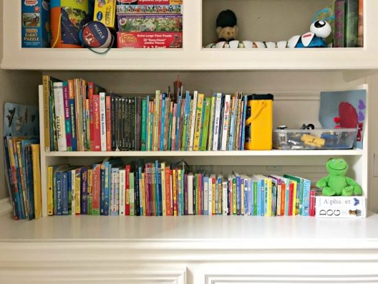 My 1-Day DIY Kids Book Storage Idea from Abbott's At Home.