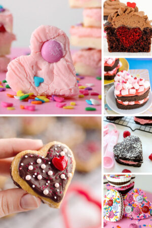 collage of valentine's day treats