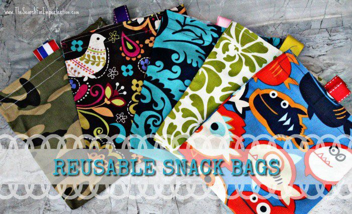 Easy Homemade Reusable Snack Bags from The Search for Imperfection