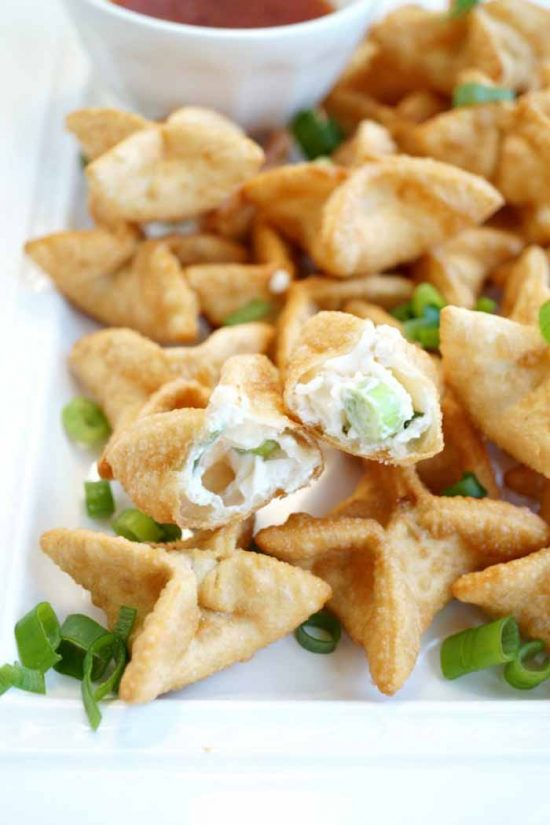 Vegan Crab Cream Cheese Wontons at The Baking Fairy