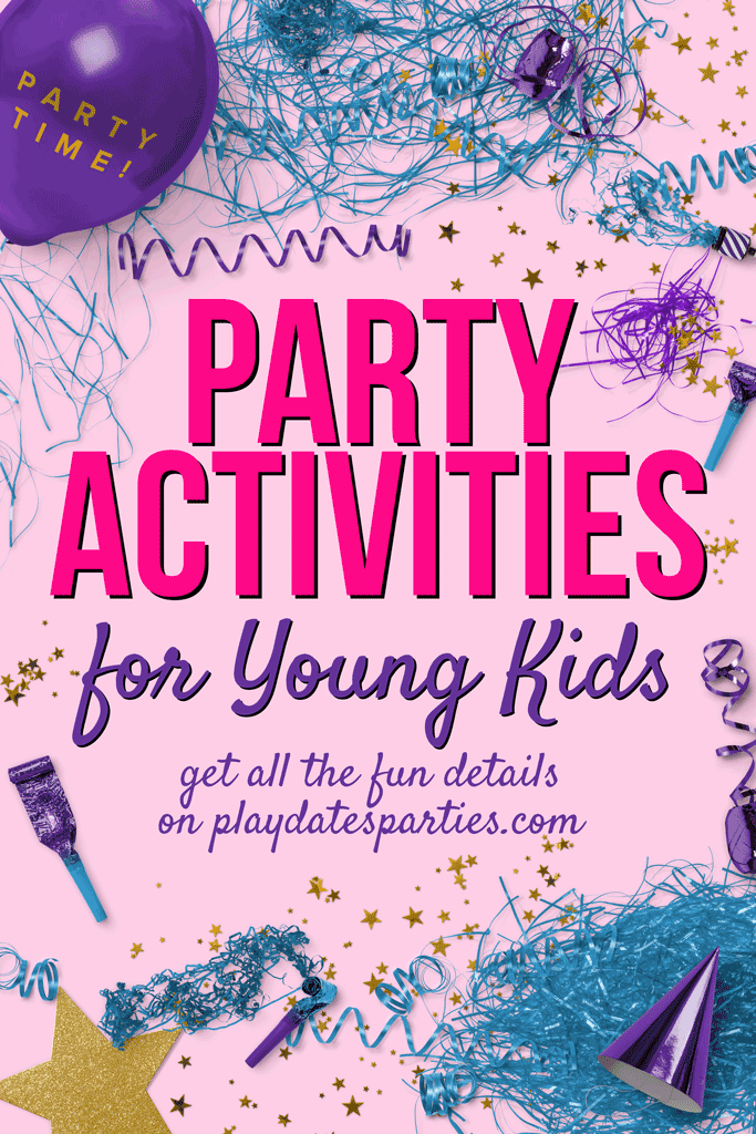Figuring out party activities for kids beyond the toddler years doesn't have to be difficult. Head over to playdatesparties.com to see 20 party activities to keep the kids happy without going nuts with too much work. #kidsparties #kids #partyplanning #partyideas
