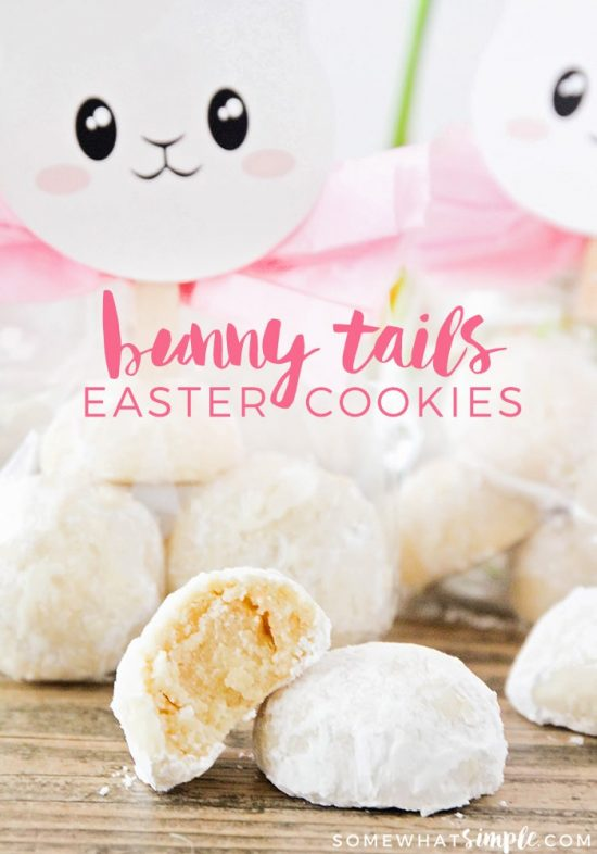 Easter Cookie Recipe – Bunny Tails from Somewhat Simple.