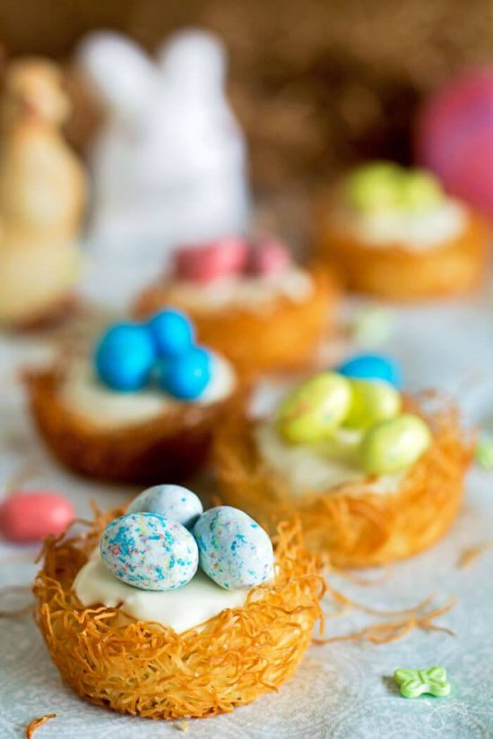 No-Bake Cheesecake in Kataifi Nests  from All That's Jas.