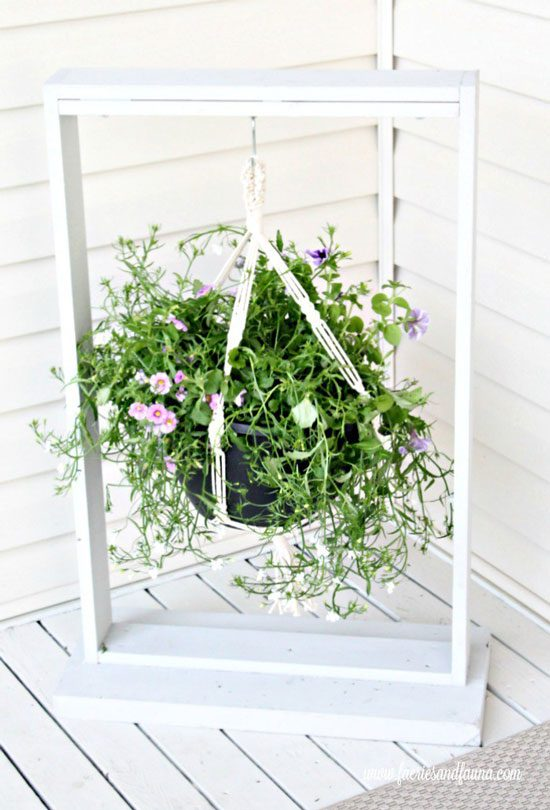 DIY Hanging Planter or Sign – Easy Woodworking Project from Of Fairies & Fauna Craft Co.