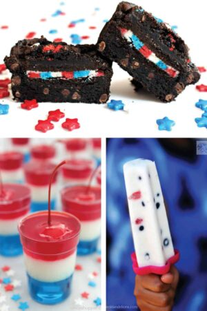 red white and blue desserts for July 4th