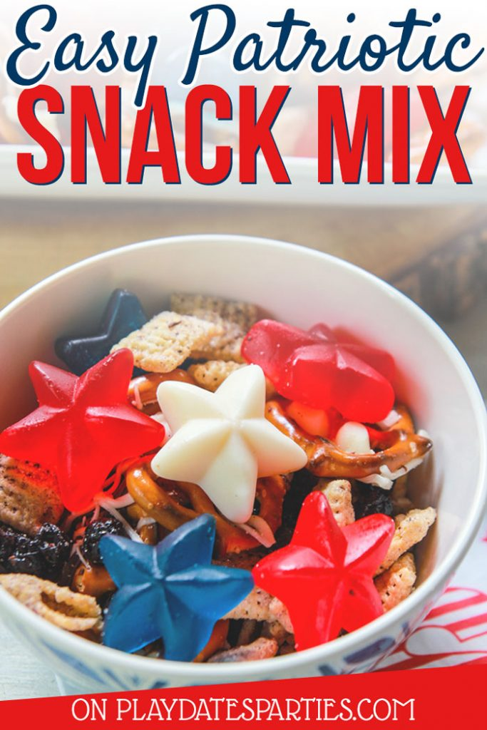Easy patriotic snack mix is the perfect treat for both kids and adults. Find out how to make and even adapt this recipe for everyone's appetites.