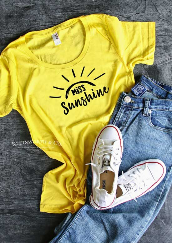 Miss Sunshine T-Shirt Iron-On from Kleinworth & Co.