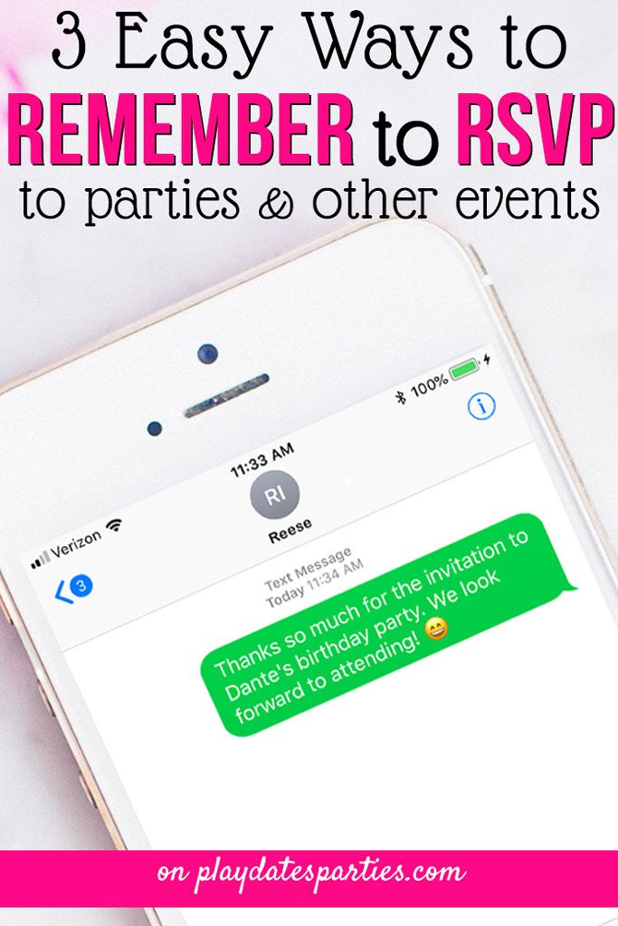 I was so embarrassed every time I would forget to RSVP for a birthday party. But with these three RSVP reminder strategies, our family is now far more organized and rarely forgets to send in our response before the deadline. #parenting #parentingtips #birthdayparty #kidsbirthday #kidsparties #partyideas