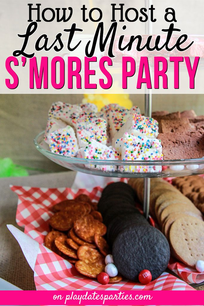 Looking for a fantastic party theme to pull together at the last minute? Try hosting a s'mores party! Click through for all the best s'mores party ideas, including what to serve (cookies anyone?) and easy decorations to make your s'mores bar both easy and fun. #smores #desserts #bar #partyideas #kidsbirthday #partyideasforkids #summer #summerparties #partyfood #partyplanning