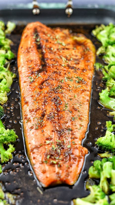 Sheet Pan Honey Balsamic Trout