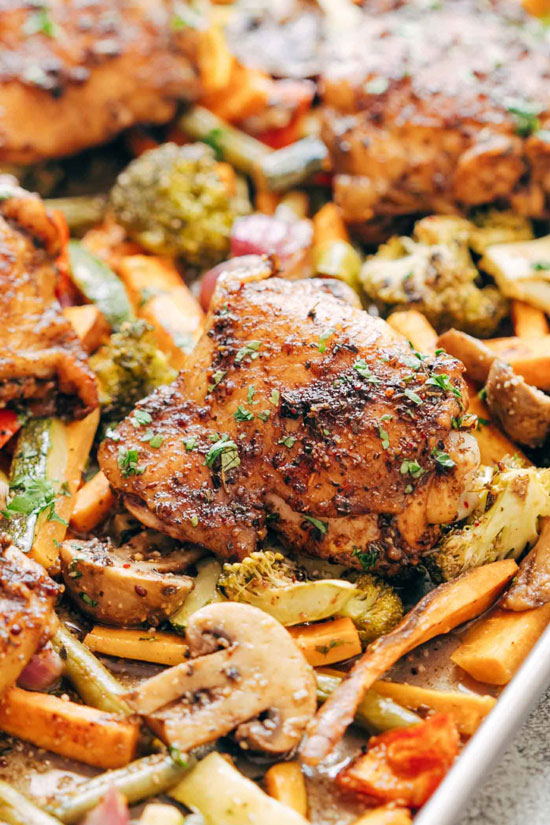 Sheet Pan Recipes: Honey Balsamic Chicken