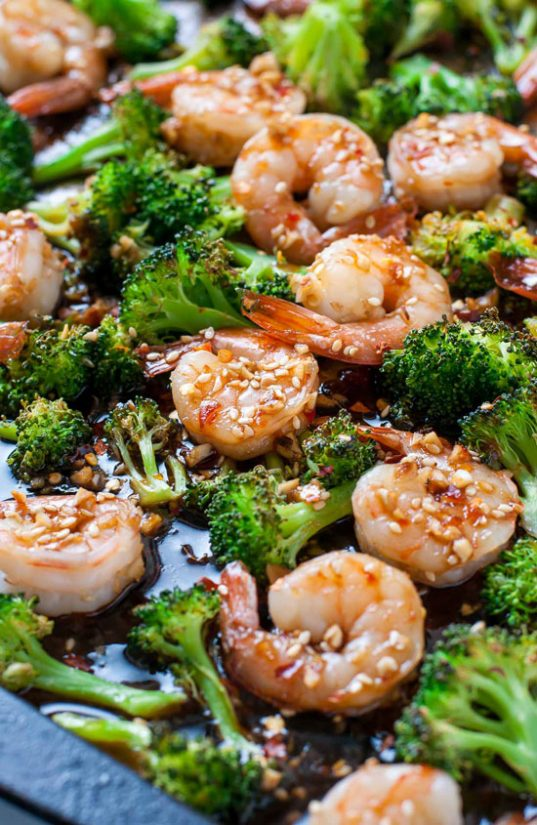 Sheet Pan Honey Garlic Shrimp and Broccoli