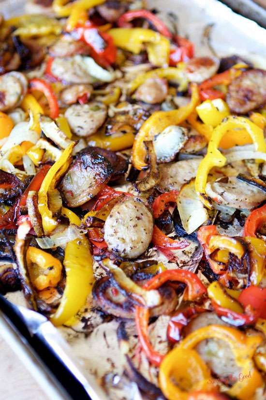 Sheet Pan Recipes: Chicken with Sausage and Peppers