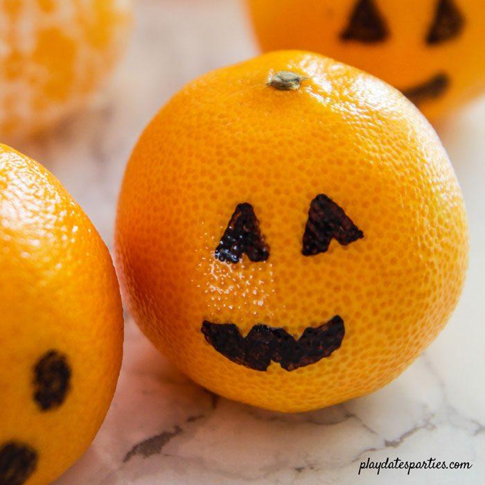 clementine jack-o-lantern pumpkin