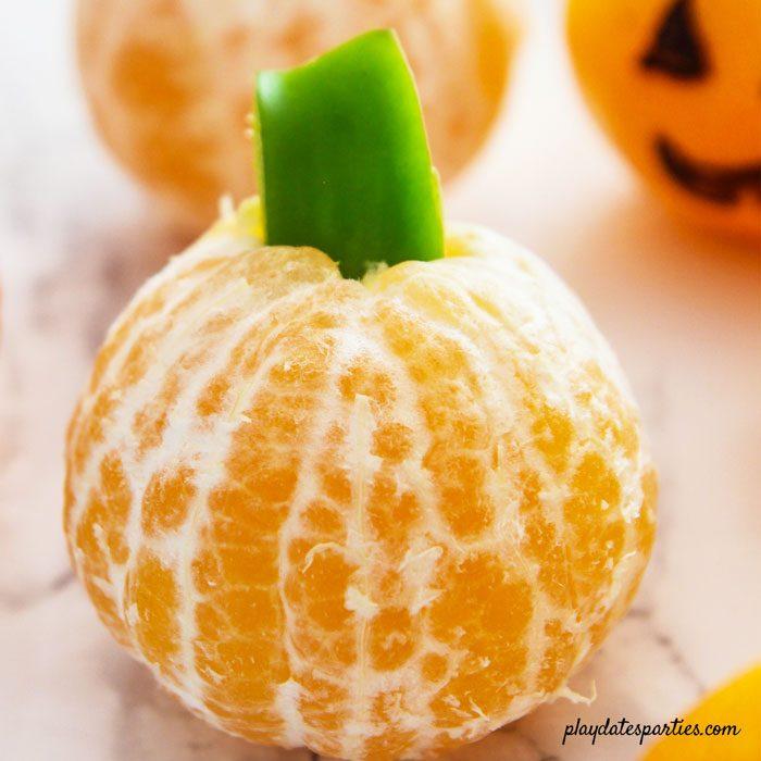 clementine pumpkin with green bell pepper