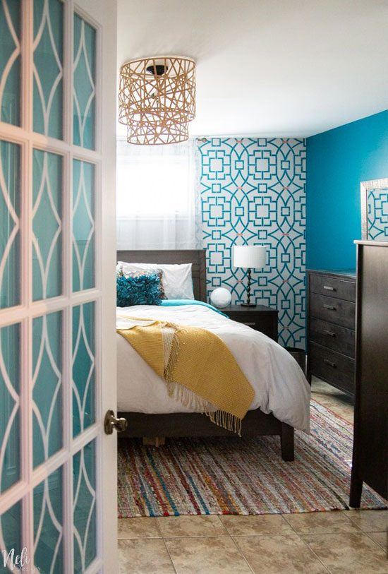 Master bedroom makeover reveal / $100 Room Challenge from Neli Design.
