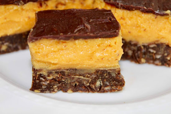 Pumpkin Nanaimo Bars from Living On Cloud Nine.