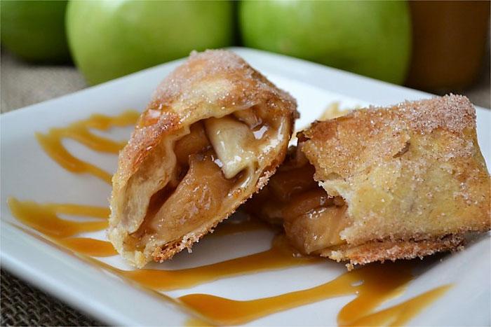 Air Fryer Caramel Apple Pie Flautas from Fluster Buster.