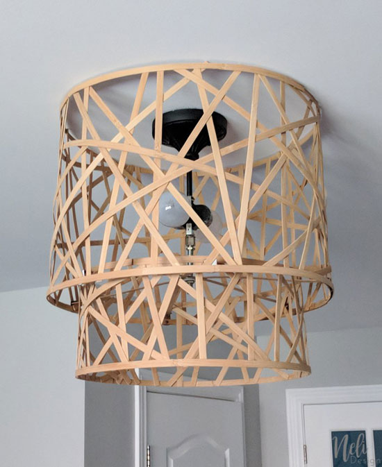 How to upgrade a ceiling light shade for free from Neli Design.