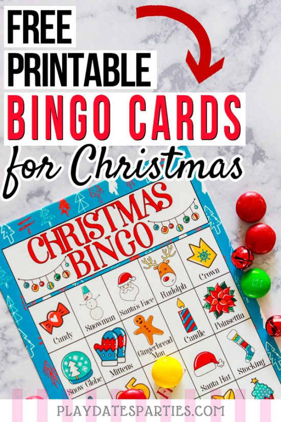 Free Printable Christmas Bingo Cards for Kids