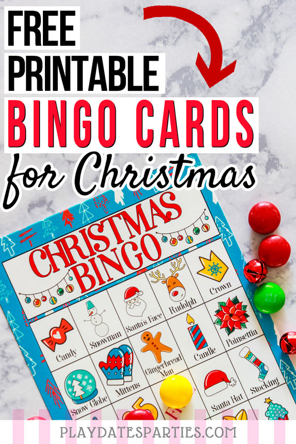 graphic regarding Printable Christmas Cards for Kids identified as Totally free Printable Xmas Bingo Playing cards for Children