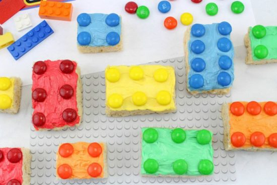 Lego Rice Krispie Treats for All the Lego Loving Builders from Confessions of a Disneyaholic Mom.