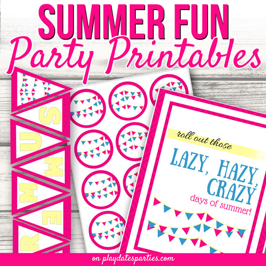 free party printables for summer parties