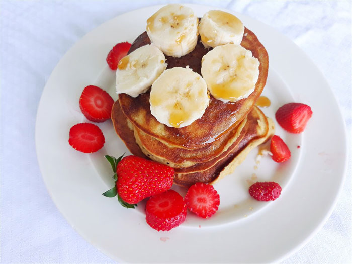Fluffy Healthy Pancakes From Holy Veggies.