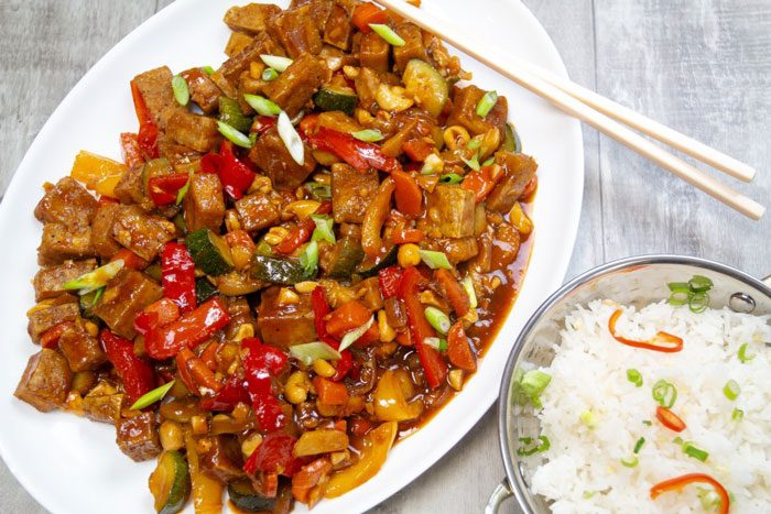 Kung Pao Tofu from the Bearded Hiker.