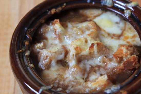 Super Simple French Onion Soup from A Sprinkle of Joy.