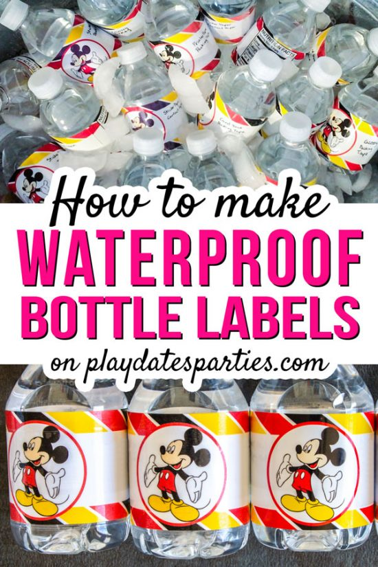 The Best Choice for Making Waterproof Water Bottle Labels