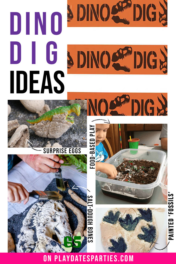 Ideas for a dino dig at a birthday party