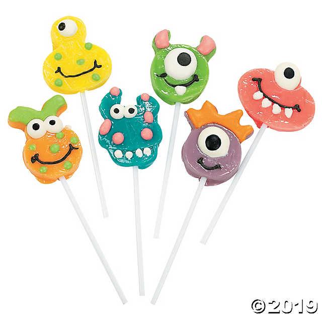 Goofy Monster Lollipops