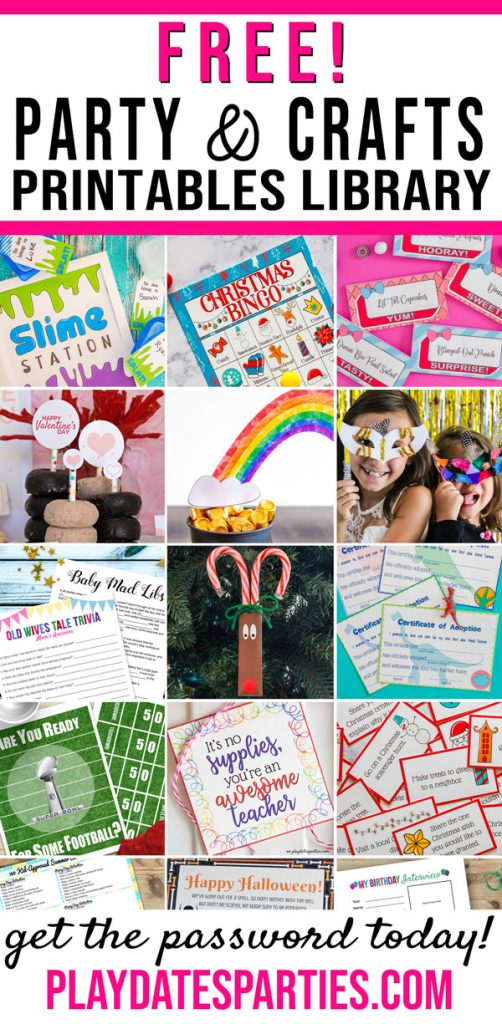 A collection of free party printables and free craft printables that are available in the resources directory